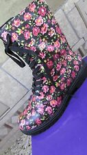 NEW STEVE MADDEN MADDEN GIRL REXX FLORAL LACE UP BOOTS WOMENS 7.5 COMBAT STYLE