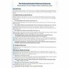 The Wadsworth Essential Reference Card to the MLA Handbook for Writers of