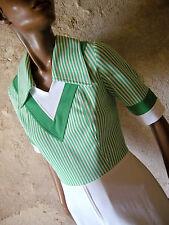 CHIC VINTAGE ROBE RAYEE 70s DRESS VTG STRIPE ANNEES 70 KLEID ABITO 1970 (36/38)