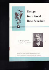 Design for a Good Rate Schedule  Helene C Bateman AT&T 1953 Bell Telephone