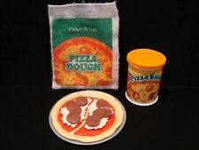 Vintage Fisher Price Fun with Food Play Pizza Complete Set Lot DD