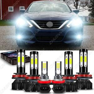 for 2007-2018 Nissan Altima Combo LED Headlight Hi&Low+Fog light bulbs Kit White