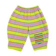 Great Stuff Baby Pants 12m Striped Bright Balloon MC Hammer Green Purple 90s Kid