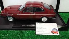 FORD CAPRI 2.8i bordeaux 1982 o 1/18 NOREV 182717 voiture miniature d collection