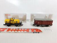 CE770-0,5# 2x Fleischmann H0/DC Güterwagen DRG NEM: 5421 K Olex + 5885 K, sg+OVP