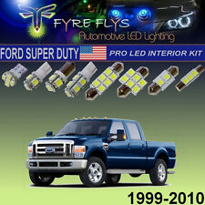 10x White LED Interior Lights Pro Package 1999-2010 Ford F250 F350 Super Duty