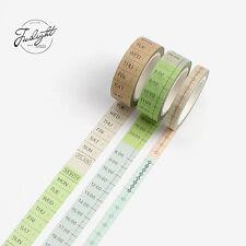 3er-Set Washi Tape | Masking Tape für Kalender, Tagesplaner, Wochenplaner, Notiz