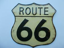 Embossed Route 66 Metal Interstate Road Wall   Garage Man Cave Shop Mobil Oil
