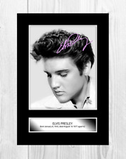 More details for elvis presley 2 a4 reproduction signature poster. choice of frame