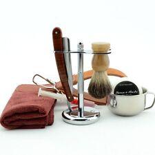 ZY Shave Ready Straight Razor Sharpened Brush Stand Bowl Soap Men Shaving SET