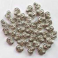 50Pcs Carved Tibet silver Buddha Pendant Bead 10x10x4mm ZN-62106