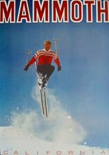 MAMMOTH CALIFORNIA SKI RESORT 1967 Vintage TOURISM TRAVEL poster 21x30 MINT