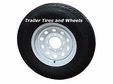 "235/80R16 LRE 10 PR RN Radial Trailer Tire on 16"" 8 Lug White Mod Trailer Wheel"