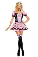 Music Legs 3 Piece Puff Sleeves with Sequin Heart Appliqué Dress Extra Small