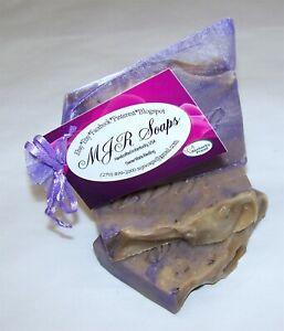 Dark Lavender Bud Goat Milk-Palm Free, Natural, Organic by MJR Soaps