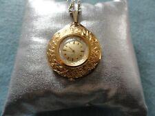 Vintage Elgin Mechanical Wind Up Necklace Pendant Watch