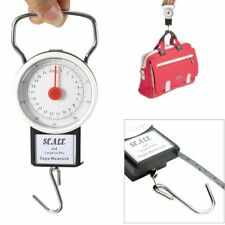Portable Luggage Travel Scale Hanging Suitcase Hook 50 lb w/Measuring Tape
