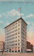 Black Hawk National Bank Waterloo IA Postcard 1913