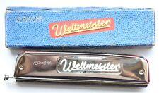 Antique German Weltmeister Vermona Harmonica Marked C In Original Box