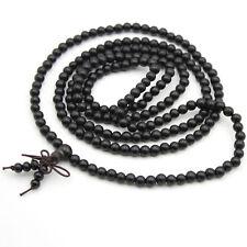 5mm Black Sandalwood Tibet Buddhist 216 Prayer Beads Mala Necklace