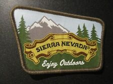 SIERRA NEVADA Enjoy Outdoors LOGO PATCH iron on craft beer brewery brewing