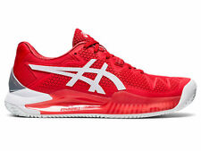 Women's Asics Gel-Resolution 8 Clay Fiery Red/White Running Shoes SIZE 8