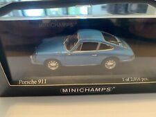 RARE MINICHAMPS 1/43 PORSCHE 911 1964 BLUE NEW BOXED LIMITED