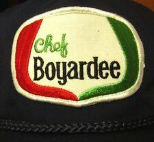 CHEF BOYARDEE canned pasta products trucker cap 1980s hat w/ patch ConAgra