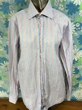 English Laundry 16, 34/35 Pink Blue Long Sleeve Button Up Shirt Cotton A15