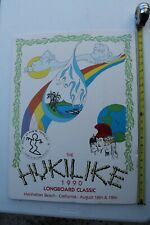 Da Hui Hukilike 1990 Longboard Classic Contest 24x18in. Vintage Surfing Poster