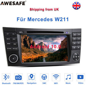 """For Mercedes Benz E Class W211 W219 7""""Android10 Car Radio GPS Sat Nav CD RDS DAB"""