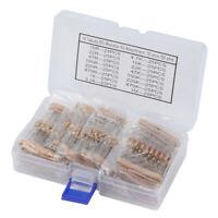 400pcs 16 Values 5% 10-1M Ohm 1/2 Watt Metal Film Resistors Assortment Kit Set