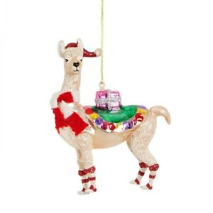Sass & Belle Festive Llama Gift Delivery 3D Bauble Hanging Decor Christmas Tree