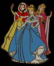 Disney Princess Christmas Pin Belle Cinderella Aurora Le 1000 Holiday
