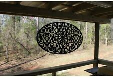 Outdoor Oval Decorative Privacy Panel Screen, Porch Latticework Lightweight PVC