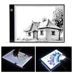 A4 LED Leuchttablett Leuchttisch Lichttisch Dimmbar Leuchtplatte Zeichenblock DE