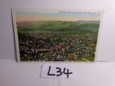 VINTAGE UNPOSTED POSTCARD LINEN VIEW FROM QUEENS POINT KEYSER WV WEST VIRGINIA