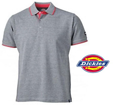 Polo Shirt Top Short Sleeve Heavyweight Grey DT2000 2 Tone Dickies ANVIL S- 3XL