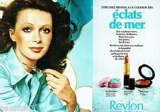 PUBLICITE ADVERTISING 115  1972  les maquillages REVLON vernis rouge à lèbres 2p