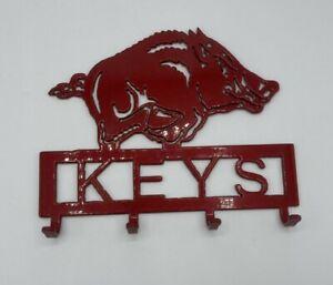 Arkansas Razorback Wall Mounted Key Holder Key Rack University of Arkansas
