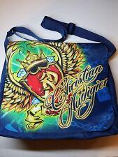 Christian Audigier cool graphic print messenger bag