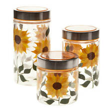 Sunflower Canisters, Set of 3  Kitchen & Tabletop - Free Shipping