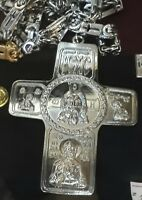 Christian Orthodox Pectoral Priest Cross with Chain