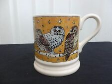 Emma Bridgewater All Over Owls Gold Background Brand New Unused Discontinued