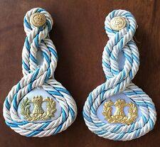 Epaulettes vintage uniform white (summer) Military Academy the Argentine Army.
