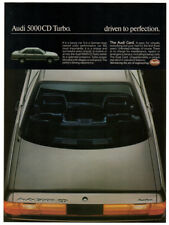 1984 AUDI 5000 CD Turbo Vintage Original Print AD - Silver car photo english ca