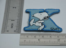 "LETTER K SNOOPY ALPHABET 1 1/2"" 4cm Sew Iron on Cloth Patch Applique Embroidery"