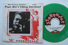 "7"" papà Blue 's Viking Jazz Band-When The Saints/1919 March-GREEN VINYL"