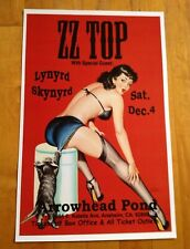 Zz Top with Lynyrd Skynyrd @ Arrowhead Pond Concert Poster 11 X 17 Reprint New