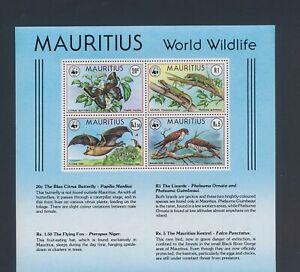 XC72392 Mauritius animals fauna flora wildlife XXL sheet MNH